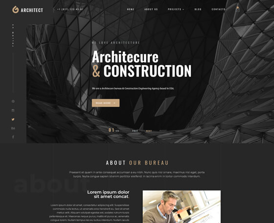Architect bootstrap 4 theme