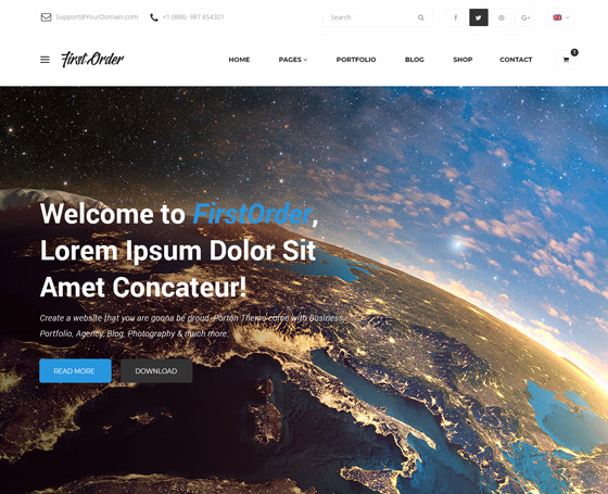 firstorder free website template