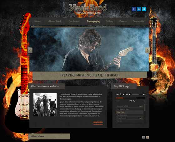 Hardrock band free website template
