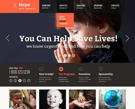 Hope - free HTML Bootstrap Template